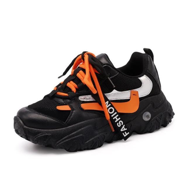 【Taroko】輕透質感撞色透氣厚底休閒鞋(3色可選)