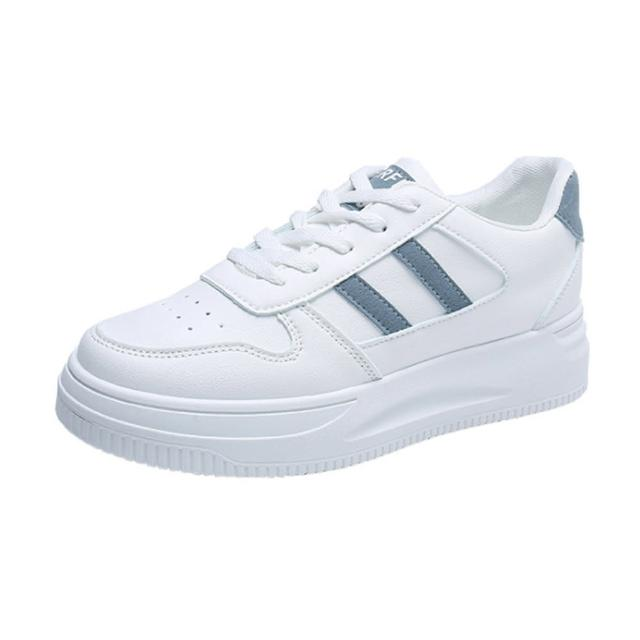 【Taroko】ins小白鞋時尚簡約厚底休閒鞋(3色可選)