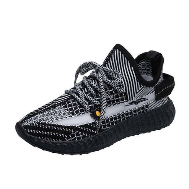 【Taroko】個性之選飛織透氣小花厚底休閒鞋(5色可選)