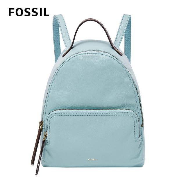 【FOSSIL】Felicity 真皮後背包-土耳其藍色 SHB2101480