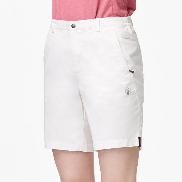 【Wildland 荒野】女彈性透氣抗UV休閒短褲(米白色)