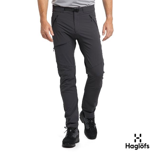 【Haglofs】男 Lizard 防潑水 透氣 彈性長褲(磁鐵色)
