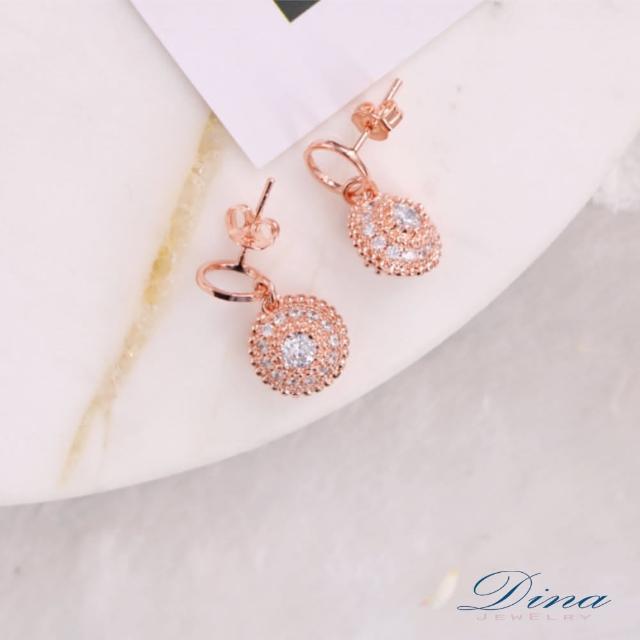 【DINA 蒂娜珠寶】花戀緣 CZ鑽造型耳環(CS6457)