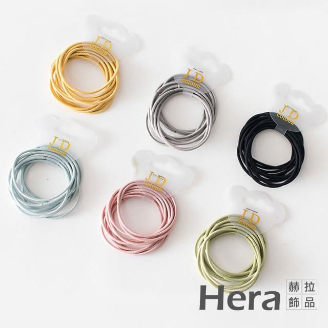 【HERA 赫拉】簡約基礎冰淇淋色髮圈-隨機色60入組#H100414I(簡約 隨機色 髮圈)