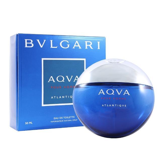【BVLGARI 寶格麗】勁藍水能量男性淡香水 50ml(平輸)