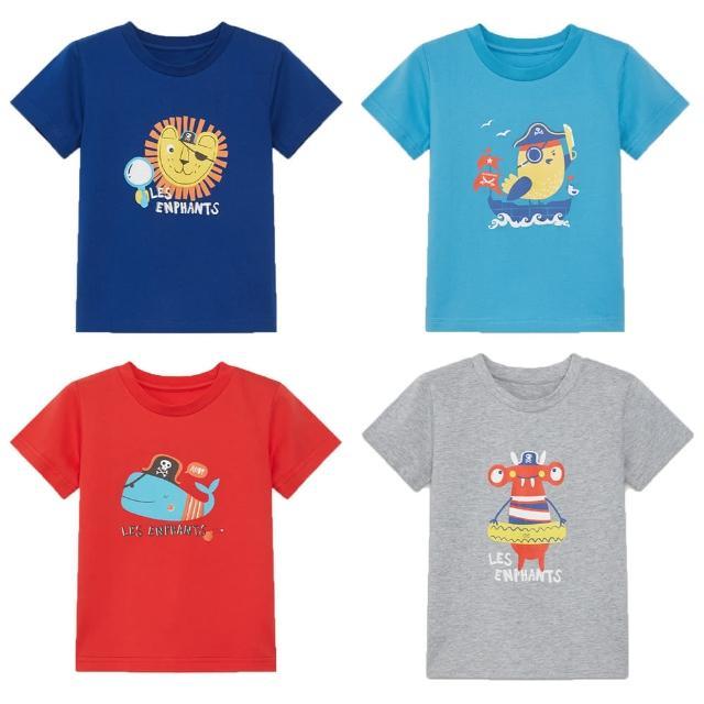 【麗嬰房】EASY輕鬆系列 男童海盜樂園短袖上衣(藏青/海藍/紅色/灰色 76cm~130cm)