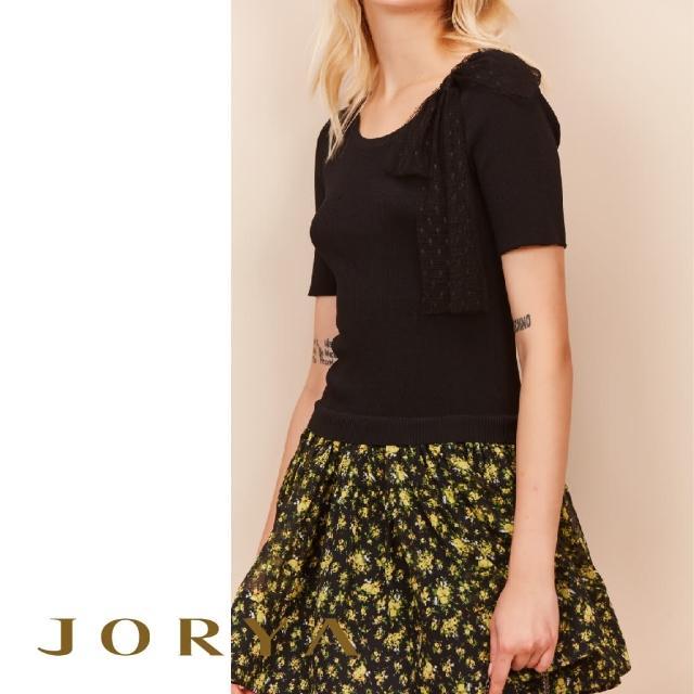 【JORYA】K1202603田園小玫瑰碎花緞帶網紗連身洋裝