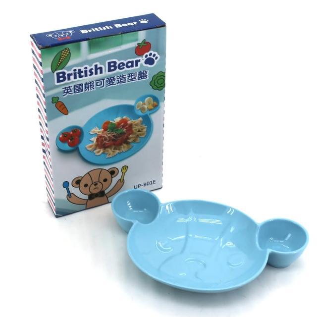 【British Bear 英國熊】可愛造型盤配安妮兔單柄琺瑯鍋18CM-熊兔兩用組