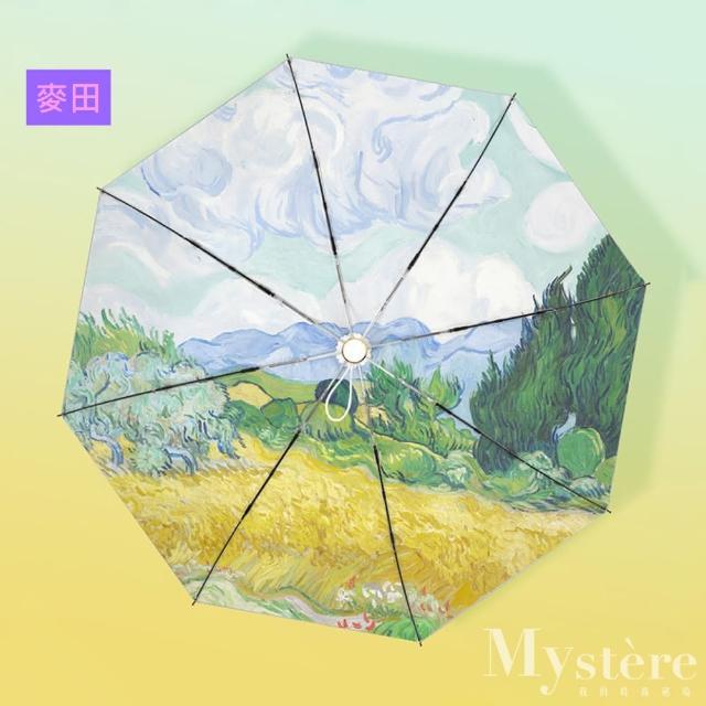 【my stere 我的時尚秘境】日系鈦銀不透光/抗UV自防曬/晴雨傘/自動傘(防曬係數50 自動 防風 晴雨兩用傘)