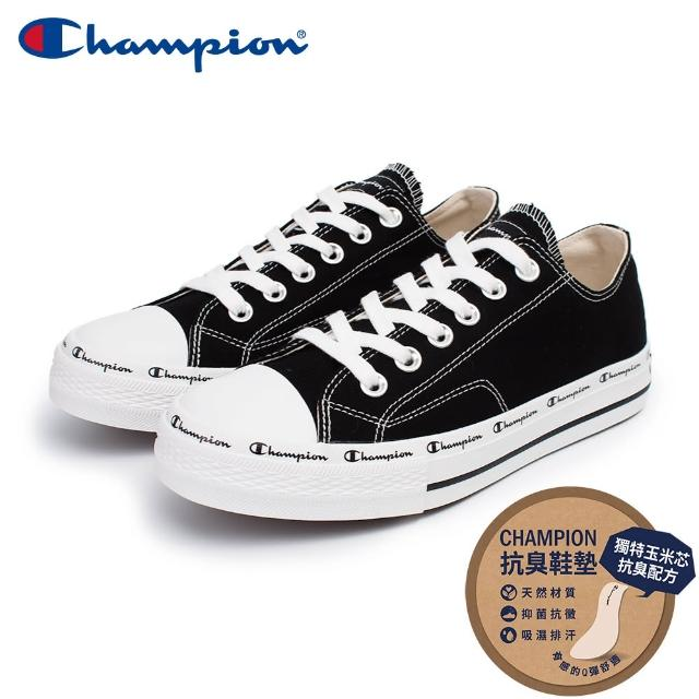 【Champion】男/女 帆布鞋 休閒鞋 CLASSIC CP CANVAS-黑(USLS-1013-11)