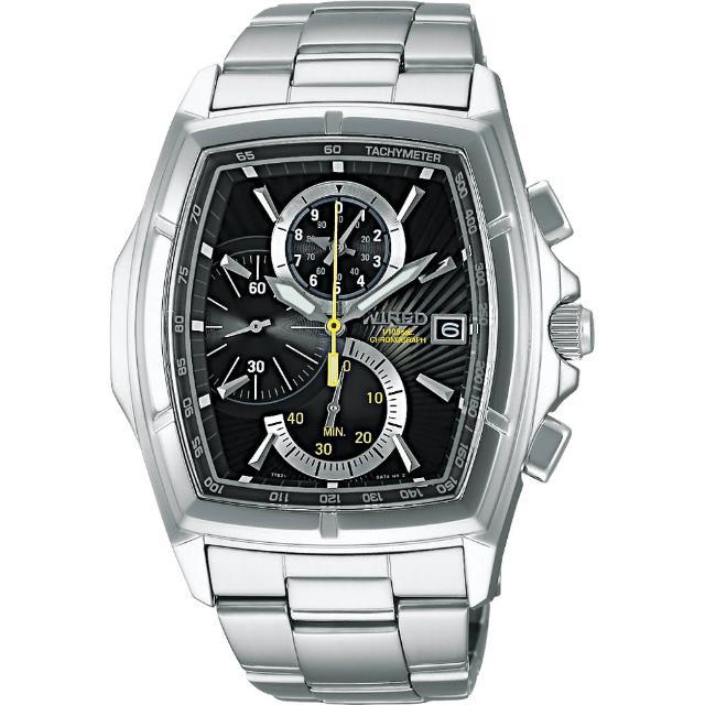 【WIRED】世紀之戰三眼計時腕錶-黑(7T82-X003D)