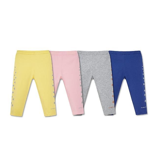 【麗嬰房】EASY輕鬆系列 女童海盜樂園星星七分內搭褲(藏青/粉紅/黃色/麻灰 76cm~130cm)