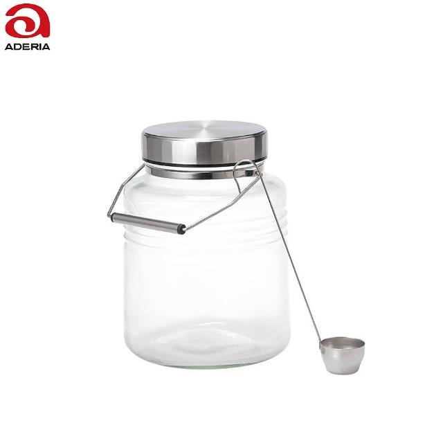【ADERIA】日本金屬蓋梅酒罐 3000ml 附贈勺子 D815(玻璃罐)