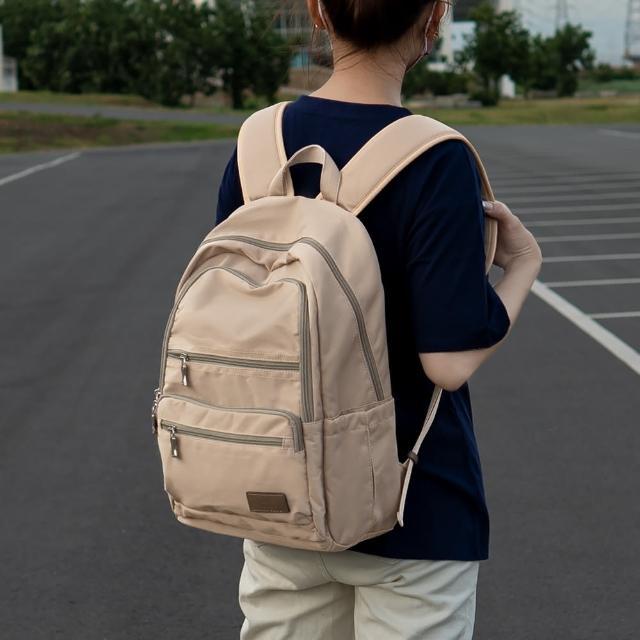 【J II】後背包-極限水洗雙拉鍊後背包-奶茶色-6566-21(後背包)