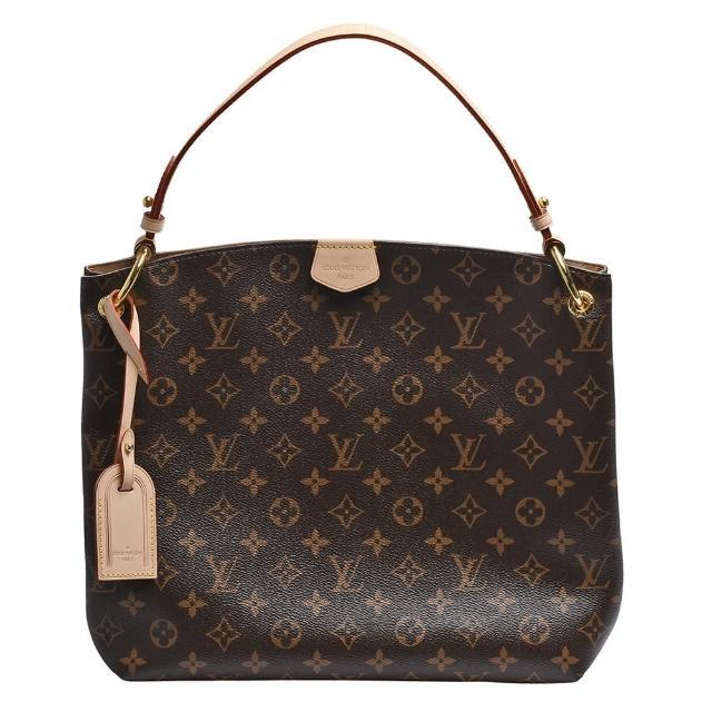 【Louis Vuitton 路易威登】M43701 GRACEFUL PM經典Monogram帆布手提/肩背包