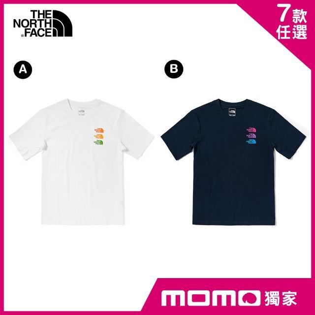 【The North Face】MOMO獨家優惠-早春新品男女款百搭造型短袖上衣(7款任選)
