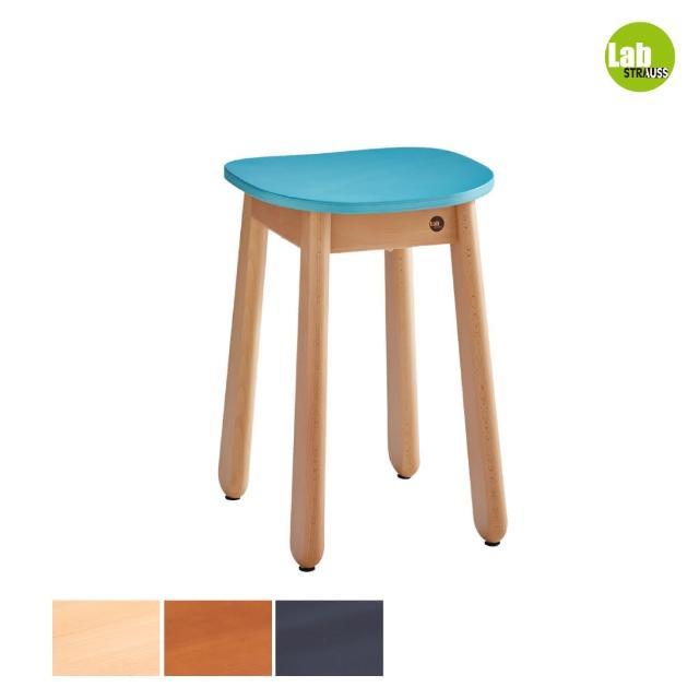 【有情門】STRAUSS Lab卡哇伊矮凳-湖水綠色 三木色可選(製作期為10-15個工作天/實木/MIT/休閒椅/工作椅)