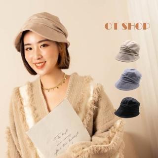 【OT SHOP】帽子 棉質盆帽 遮陽帽  C2081(素面 春夏穿搭配件)