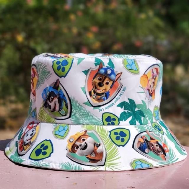 【paw patrol 汪汪隊立大功】恐龍救難隊主題 雙面戴遮陽帽(遮陽帽; 帽子; 兒童; 汪汪隊;戶外)