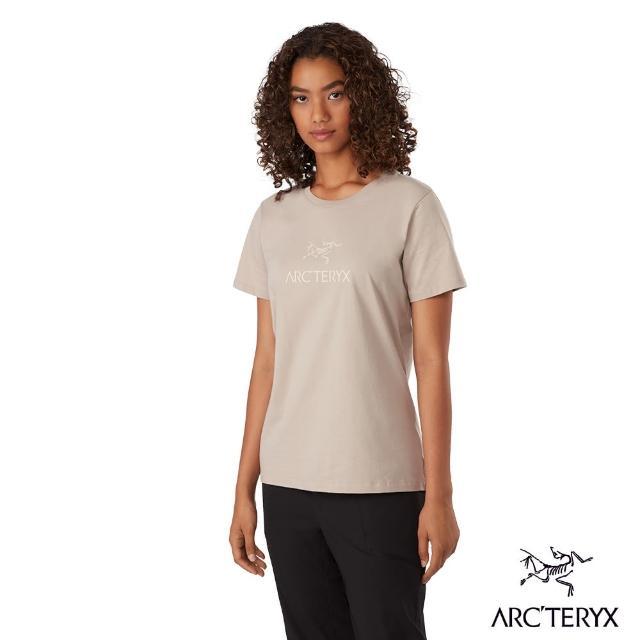 【Arcteryx 始祖鳥】女 ArcWord 百分百有機棉 短袖 休閒Tee(盧恩褐)