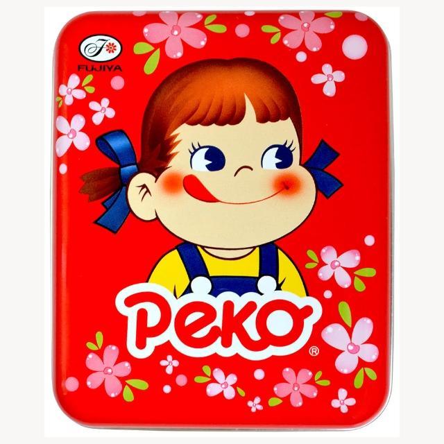 【不二家】Peko花漾牛奶糖罐-紅櫻 40g