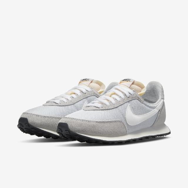 【NIKE 耐吉】休閒鞋 Waffle Trainer 2 運動 女鞋 基本款 簡約 舒適 麂皮 球鞋 穿搭 灰 白(DM9091-011)