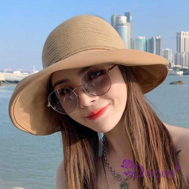 【Decoy】高雅名媛*蝴蝶結鏤空防曬遮陽帽