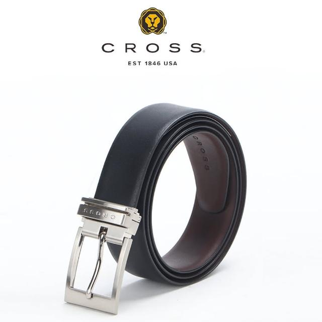 【CROSS】限量3折 頂級NAPPA小牛皮男用皮帶 全新專櫃展示品(洛非諾系列 可雙面替換用)