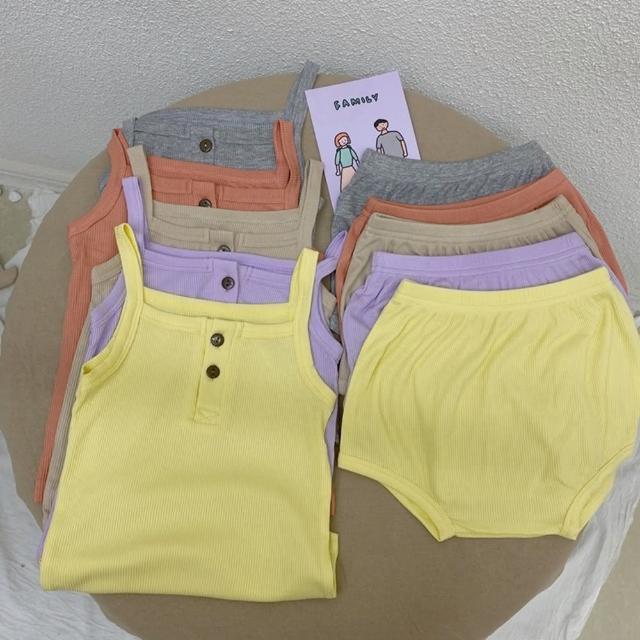 【Baby 童衣】兒童家居服套裝 超彈力吊帶無袖睡衣 88698(共5色)