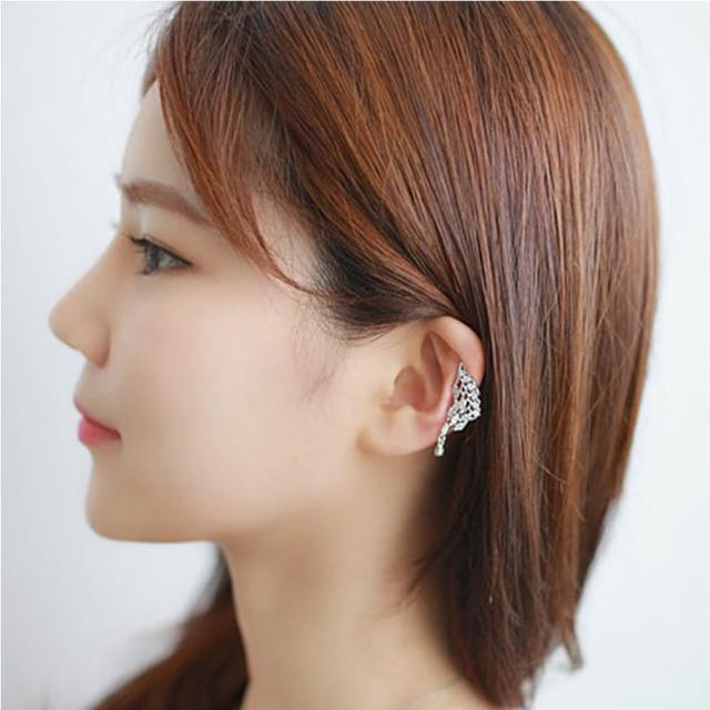 【HaNA 梨花】韓國925銀單只蝴蝶羽翼無耳洞耳夾耳骨夾