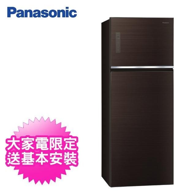 【Panasonic 國際牌】485公升一級能效雙門變頻冰箱(NR-B481TG-T曜石棕)