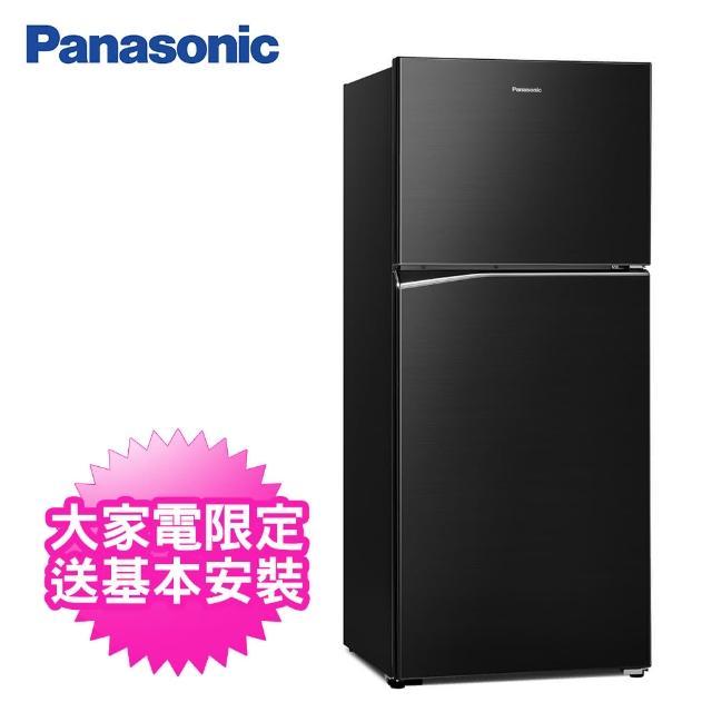 【Panasonic 國際牌】422公升一級能效雙門變頻冰箱(NR-B421TV-K晶漾黑)