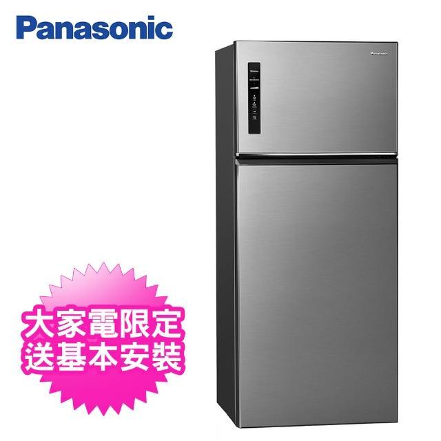【Panasonic 國際牌】579公升一級能效雙門變頻冰箱(NR-B581TV-S晶漾銀)