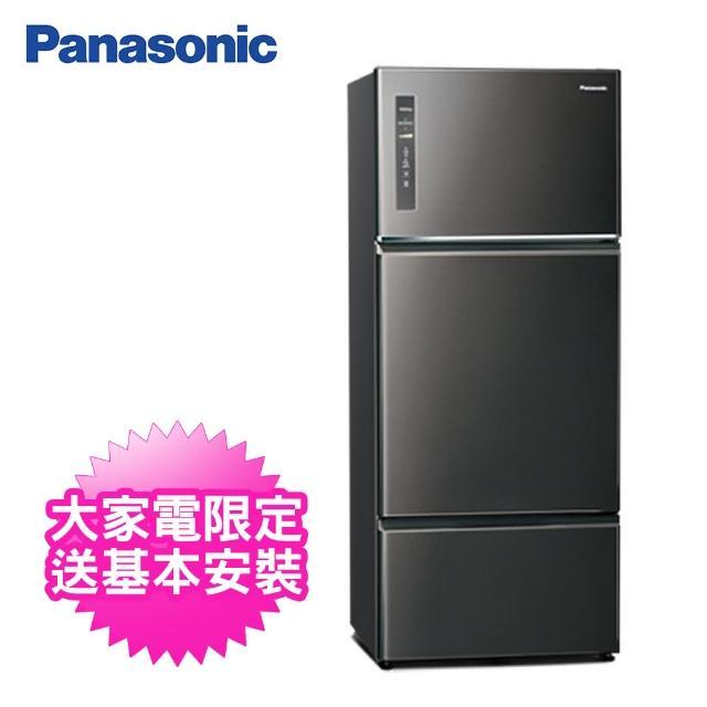 【Panasonic 國際牌】481公升一級能效三門變頻冰箱(NR-C481TV-K晶漾黑)