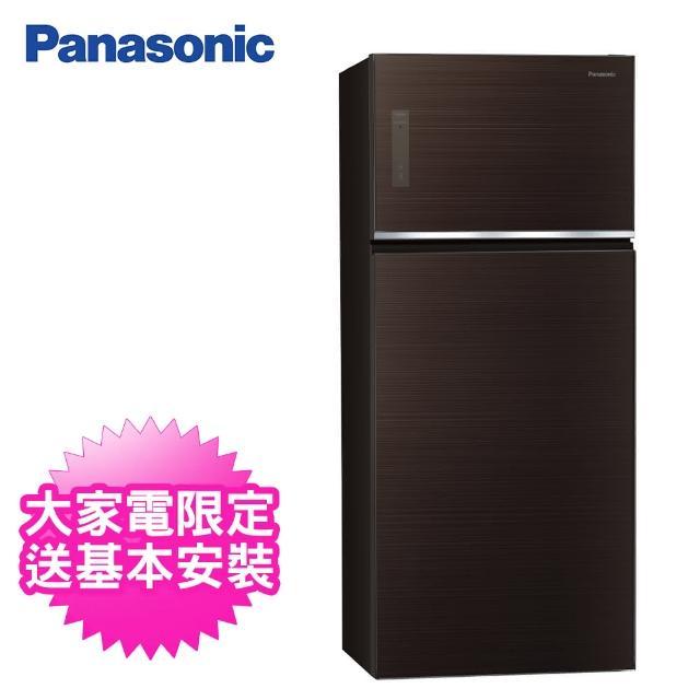 【Panasonic 國際牌】579公升一級能效雙門變頻冰箱(NR-B581TG-T曜石棕)