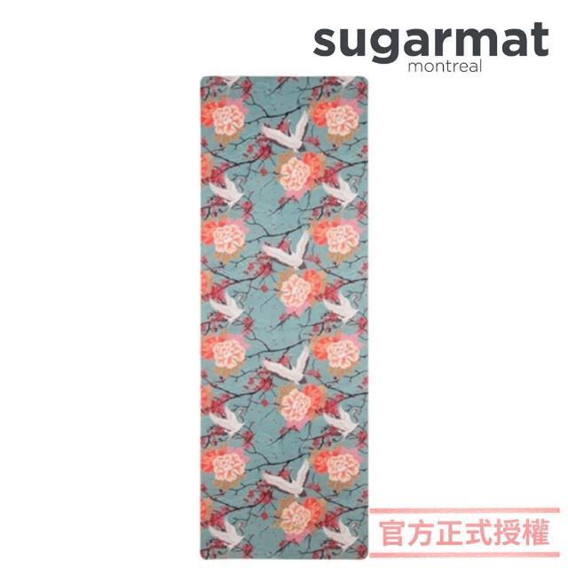 【加拿大Sugarmat】麂皮絨天然橡膠瑜珈墊 3.0mm(櫻花舞鶴 Cranes On Cherry)