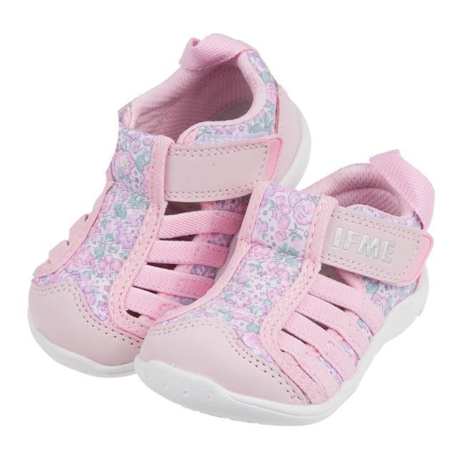 【布布童鞋】日本IFME粉色和風花繪寶寶機能水涼鞋(P1C701G)