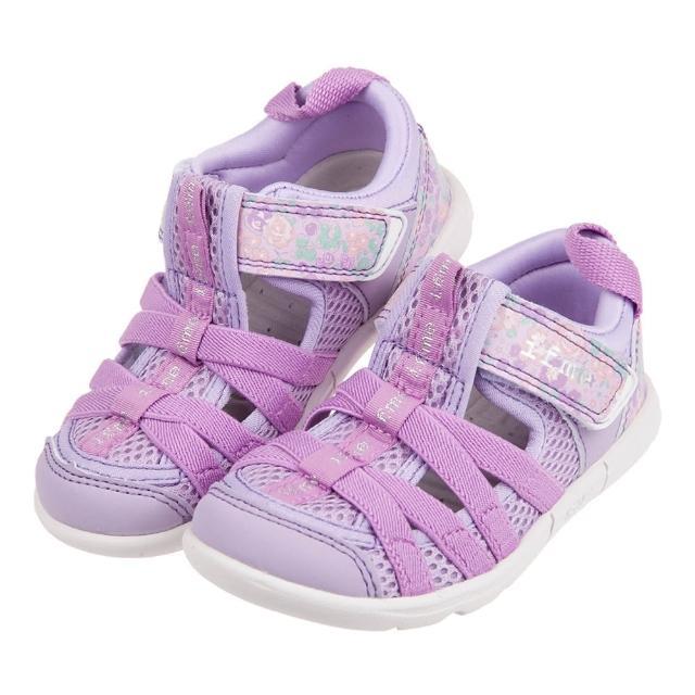 【布布童鞋】日本IFME紫色和風花繪兒童機能水涼鞋(P1F602F)