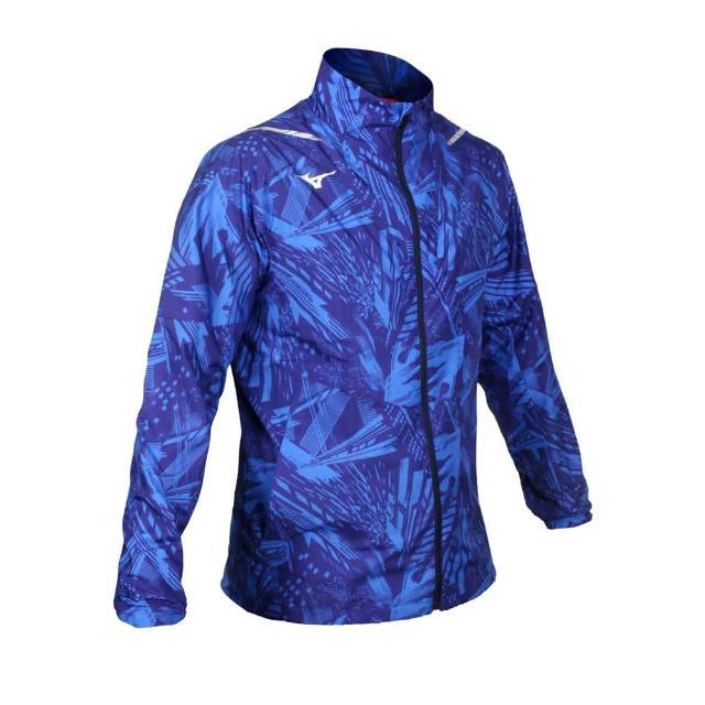 【MIZUNO 美津濃】男平織運動外套-立領外套 慢跑 美津濃 藍銀(32ME051020)
