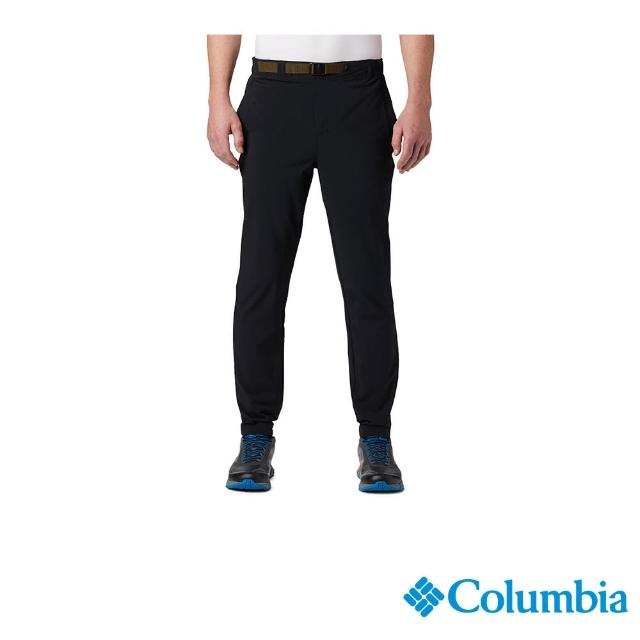 【Columbia 哥倫比亞】男款-UPF50彈性運動長褲-黑色(UAE03380BK / 運動.防曬.休閒)