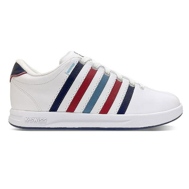 【K-SWISS】防水 時尚 運動鞋 Court Pro S WP 女 白 藍 紅(97122116)