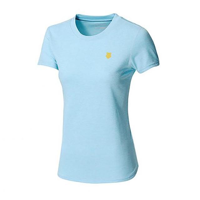 【K-SWISS】涼感排汗T恤 Back KS logo Tee 女款 水藍(195221486)