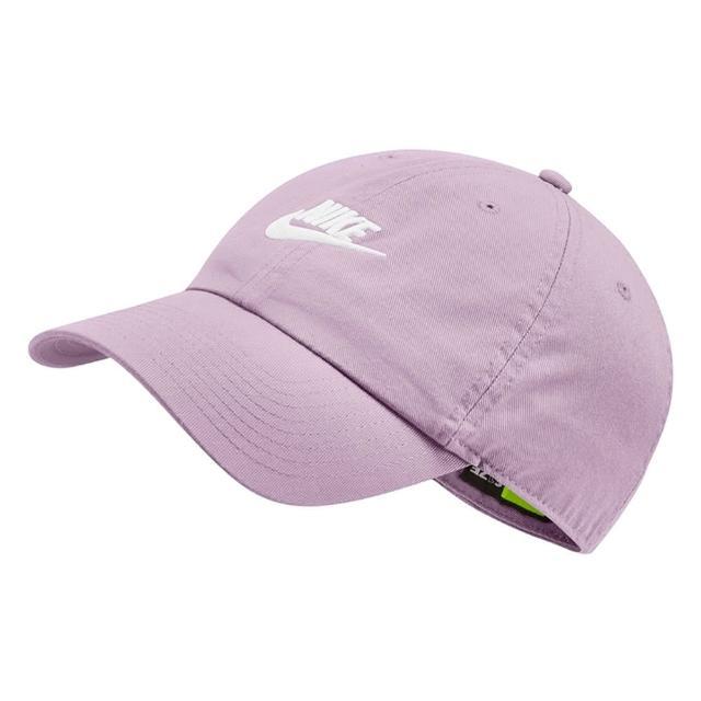 【NIKE 耐吉】運動帽 老帽 防曬 遮陽 鴨舌帽 水洗 老帽 棒球帽 台灣製 刺繡 LOGO 粉紫(913011-576)