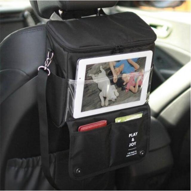 【熊愛貝】韓式汽車椅背保溫掛袋野餐包 可替代手機平板支架