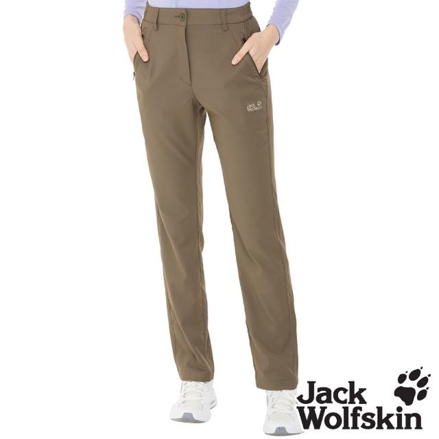 【Jack wolfskin 飛狼】女 涼感透氣排汗休閒長褲(橄綠)