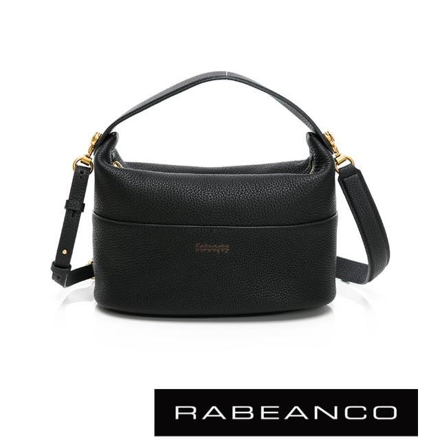 【RABEANCO】HAVEN牛皮手提肩背包-大(黑色)