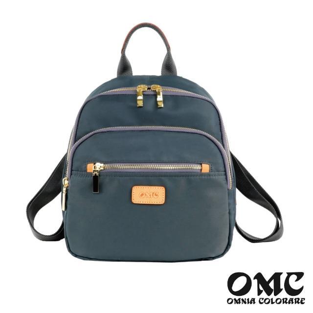 【OMC】文青風采手提寬底後背包-灰色
