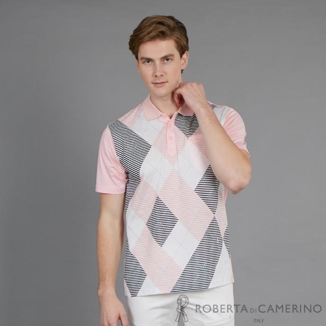【ROBERTA 諾貝達】台灣製 涼爽舒適 休閒造型短袖POLO棉衫(粉色)