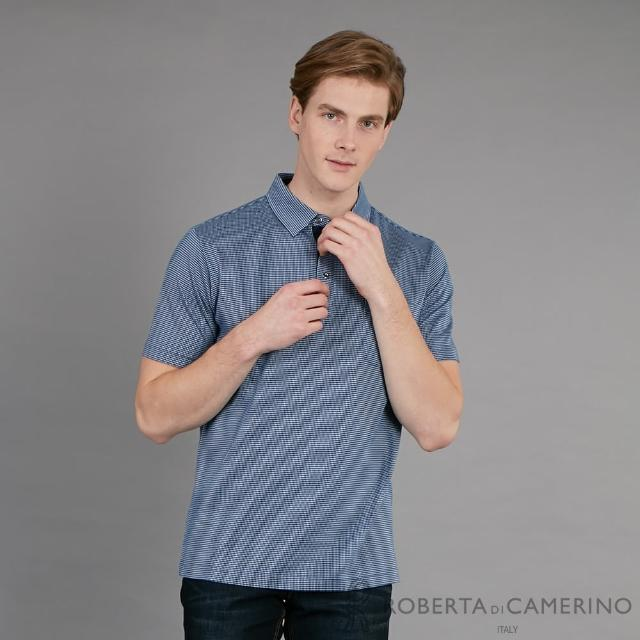 【ROBERTA 諾貝達】台灣製 簡約時尚 都會經典休閒短袖棉衫(藍色)