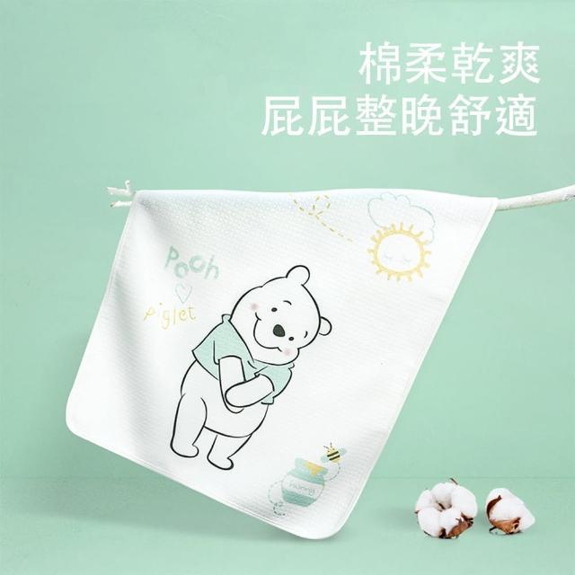 【Disney 迪士尼】純棉防水可洗兒童65x120cm隔尿墊 寶寶隔尿墊(兒童 寶寶 米奇 米妮 小熊維尼 冰雪奇緣)
